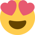 Smiling Face With Heart-Eyes on Twitter Twemoji 2.3